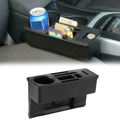 1 Pcs Car Seat Gap Catcher Filler Cup Holder Storage Box Plastic Coin Organizer