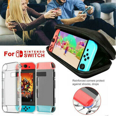 for Nintendo Switch Case Bag+Shell Cover+Charging Cable+Protector Accessories UK