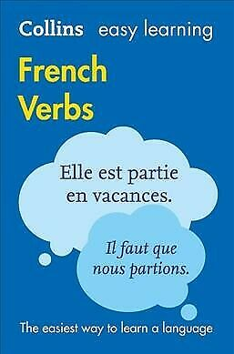 Easy Learning French Verbs, Paperback by Collins Dictionaries, Like New Used,...