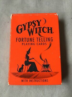 GYPSY WITCH Fortune Telling Playing Cards Divining Pack Reading US Games