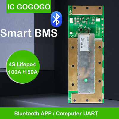 Smart BMS 4S 12V 100A 150A Lifepo4 Battery Protection Board Bluetooth APP Phone