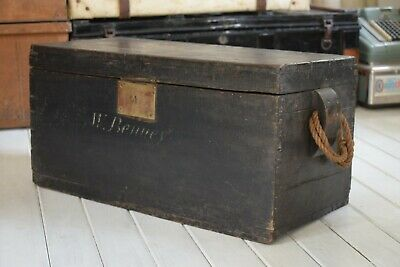 Antique Sea Chest,Sea Trunk,Sailors Trunk,Nautical Trunk,Ships Chest,Ebonised