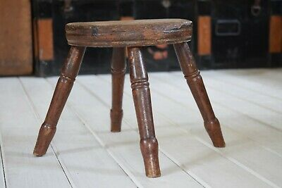 Antique Georgian Milking Stool,Antique Stool,Footstool,Small Stool,Wooden Stool