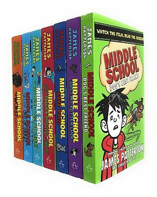 Middle School 7 Books Collection Set By James Patterson Dog's Best Friend New
