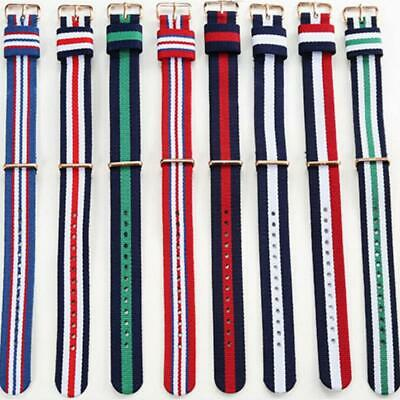 Nylon Watch Strap Band Retro Replacement Military Army Diver 14mm 16mm 18mm 20mm