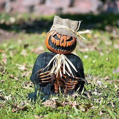 Halloween Decorations Scary Creepy Pumpkin Man Groundbreaker Fun Yard Home Decor