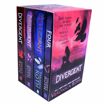 Divergent Insurgent 4 Books Young Adult Paperback Set By Veronica Roth