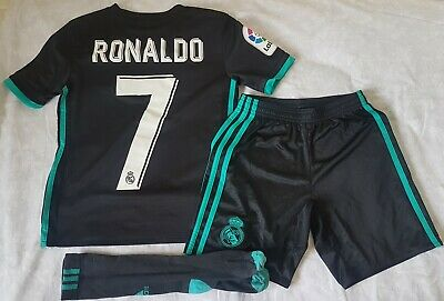 cheap for discount 66950 8be7d BOYS RONALDO REAL Madrid Full Football Kit Age 9