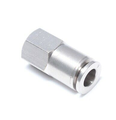 1pc Push In to Connect Fitting Flow Control 10mm x 1//4 BSPT MettleAir MSC10-02
