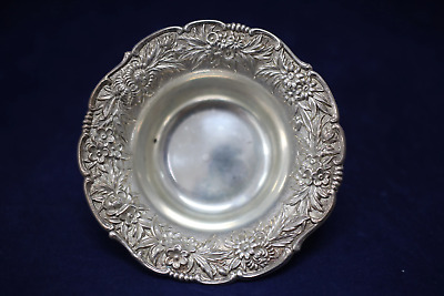 S. Kirk & Son - Repousse Sterling Silver Nut Dish Partial Chased - No Mono #400