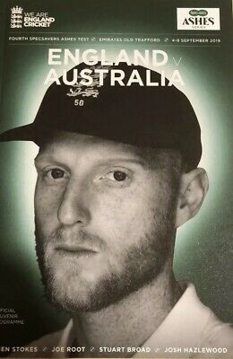AUSTRALIA v ENGLAND 4TH TEST ASHES CRICKET PROGRAMME OLD TRAFFORD - PERFECT