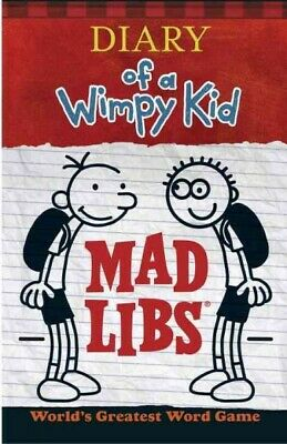 Diary of a Wimpy Kid Mad Libs, Paperback by Kinney, Patrick, Brand New, Free ...