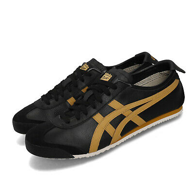 Asics Onitsuka Tiger Mexico 66 Black Gold Mens Womens Casual Shoes 1183A201-001