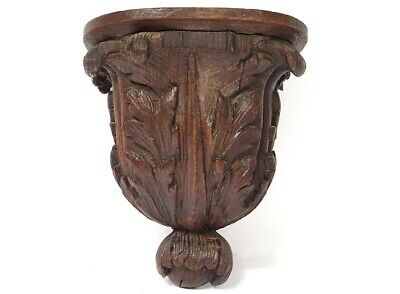 Console D'Applique Wall Wood Carved Leaves Acanthus Woodwork 19th
