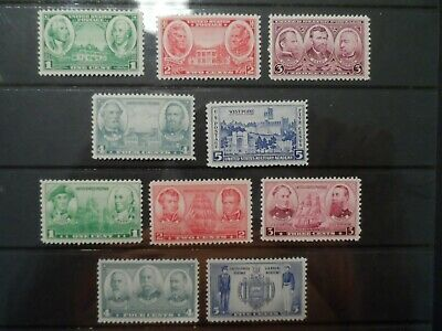 Scott #785-94 1936-7 Army-Navy Complete Set  Mnh, (1)Mh