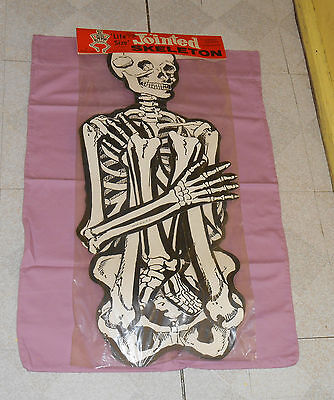 "vintage Beistle Halloween ""Life Size"" 55-inch JOINTED SKELETON new/sealed"