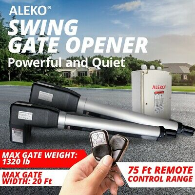 ALEKO Electric AS1200 Basic Gate Opener For Dual Swing Gates Up To 20 Feet