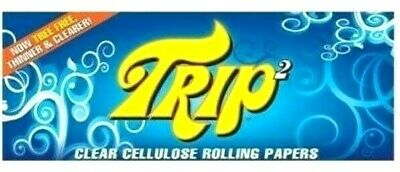 Trip Clear Rolling Papers 1 1/4 Trip 2 Buy 4@$1.89/PK 50/Lvs/Pack Fast Shipper
