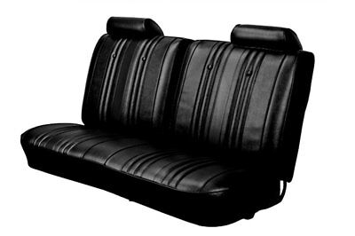 1969 Chevelle, Black Front & Rear Bench Seat Upholstery by TMI - IN STOCK!!