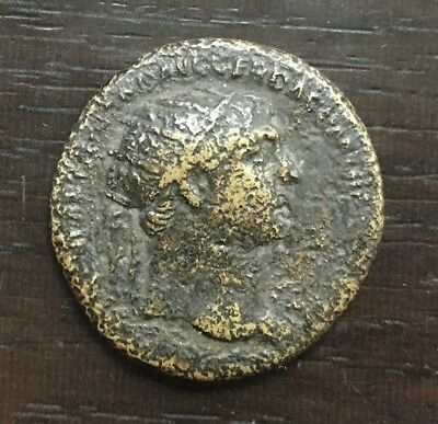 Coin Antique - Trajan (98/117) - Dupondius Rome 103-107 Spqr Optimo Principi