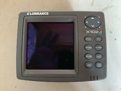 LOWRANCE X102C FISHFINDER Depth Finder, Head Unit and Cover Only