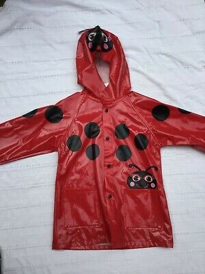 little girls raincoat size 3T Western Chief Kids red lady bug