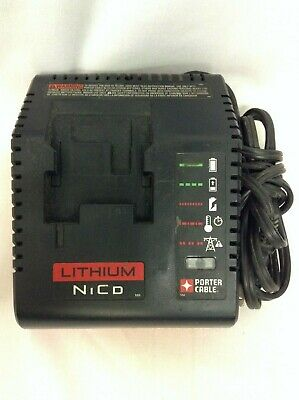 Porter Cable Lithium Nico PCXMVC Type 1 Battery Charger