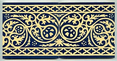 """Pair of screen printed 6"""" sq tile by Nick Abercrombie - Abercrombie Design, 1994"""