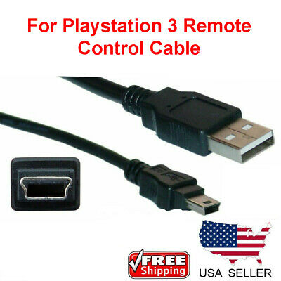 Wireless Controller Remote Control USB Charger Cable Cord Sony Playstation PS3