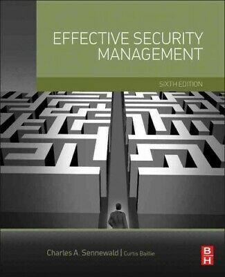 Effective Security Management, Hardcover by Sennewald, Charles A.; Baillie, C...