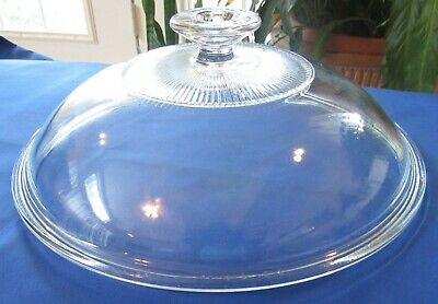 Pyrex C-125-C Clear Glass Dome Lid for Corning Ware 9.25 Round Casserole