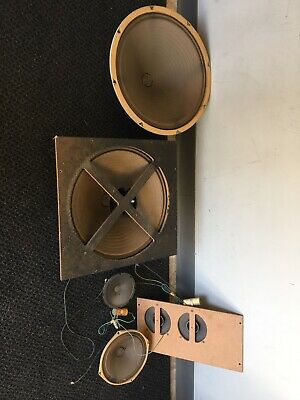 """Complete Set Of MAGNAVOX Tube Console Speakers 15"""" Woofers"""