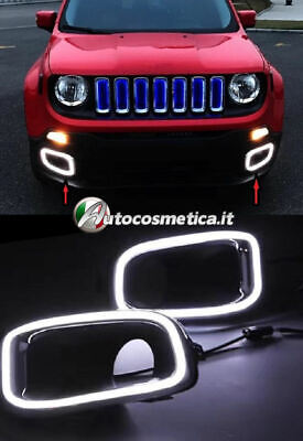 Coppia Luci Diurne Drl Led Canbus Jeep Renegade,.