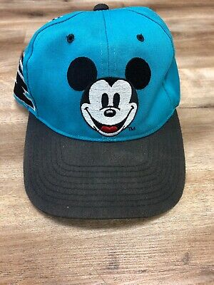 MICKEY MOUSE SIDE SPELLOUT VINTAGE 90s DISNEY CHARACTER ANNCO SNAPBACK HAT