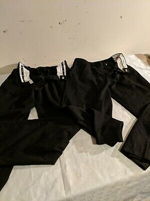 Two Pairs Of Used Boys School Black Trousers age 13 zeco