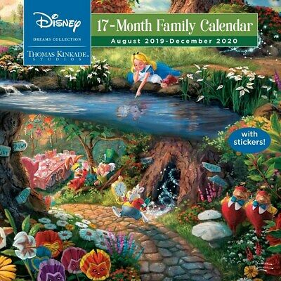 Thomas Kinkade Disney Dreams Coll. 2020 17-Month Family Sq Wall Calendar