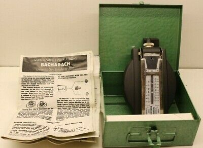 Vintage Bacharach Universal Gas Sampler 19-7016 kit in Metal Case & Instructions