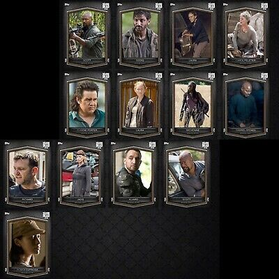 BROWN VARIANTS SERIES 3 WAVE IX 13 CARD SET Topps WALKING DEAD DIGITAL Trader