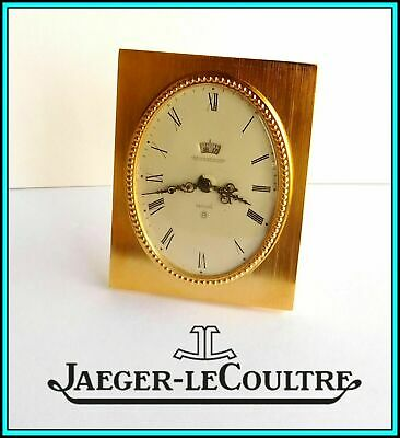 JAEGER LeCOULTRE Table / Desk Alarm Clock 8 days Day/Night - SWISS - WORKING