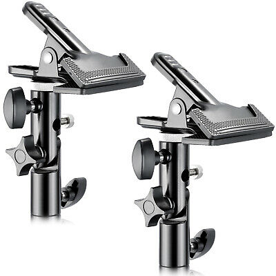 "Neewer 2PCS Metal Clamp Holder with 5/8"" Light Stand Attachment for Reflector"