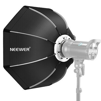 "Neewer 26"" Foldable Octagonal Softbox with Bowens Mount Speedring, Carrying Case"