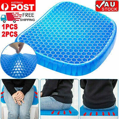 1/2PCS X Gel Honeycomb Seat Comfort Cushion Flex Back Support Spine Protector AU
