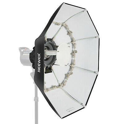 Neewer 27.5 inches/70cm Folding Beauty Dish Octagonal with Center Deflector Disc