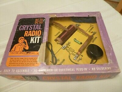 K&B Crystal Radio Set Kit In Box, Never Assembled Complete With All Parts!