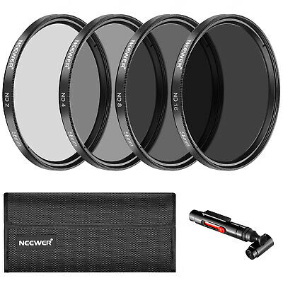 Neewer 58MM Neutral Density ND2 ND4 ND8 ND16 Filter and Accessory f Canon