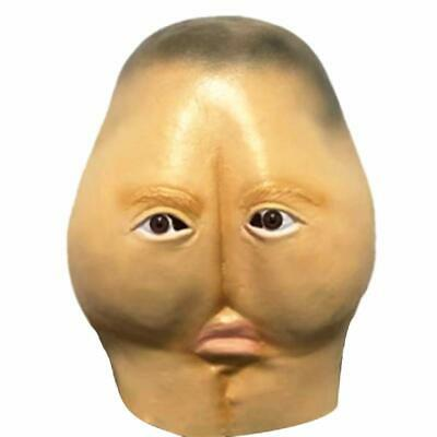 Weird Buttock Novelty Funny Halloween Cosplay Party Costume Latex Head Mask