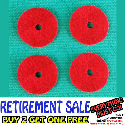 4 Sewing Machine Spool Pin Red Felt Disks Fit Singer,Necchi,Pfaff,Silver,Riccar+