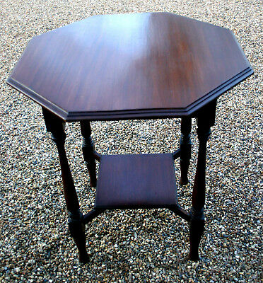 Lovely Octagonal Antique Side Hall Lounge Occasional Table - Possible Delivery!