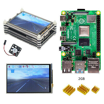 Raspberry pi 4 model B (2GB RAM) kit with 3.5 inch LCD dispaly Acrylic case