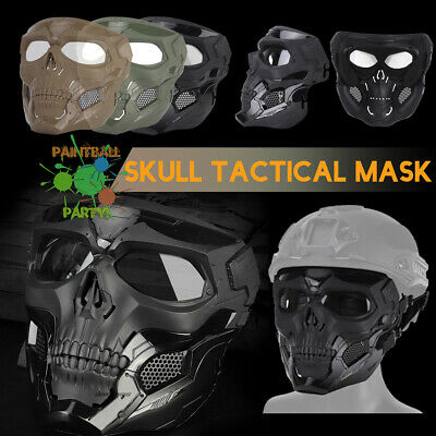 WOSPORT Cosplay Tactical Airsoft Halloween Mask skull Mask Half Face Mask